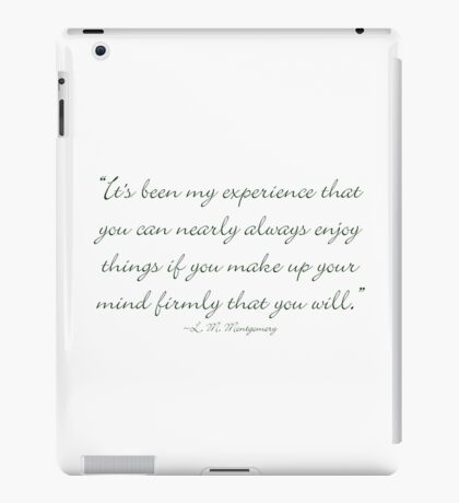 Make up your mind that you will iPad Case/Skin