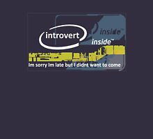 Cool Funny Introvert Party Shirts Unisex T-Shirt
