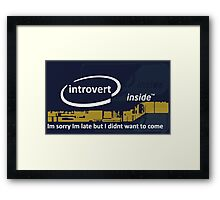 Cool Funny Introvert Party Shirts Framed Print