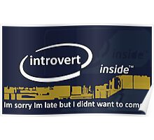 Cool Funny Introvert Party Shirts Poster