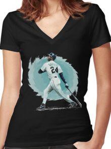 Ken Griffey Jr. Women's Fitted V-Neck T-Shirt