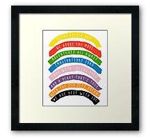 My Little Rainbow Framed Print