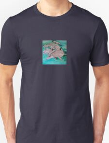 Dolphins in blue Unisex T-Shirt
