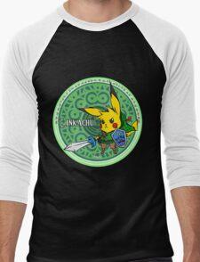 Linkachu Men's Baseball ¾ T-Shirt