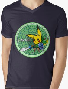 Linkachu Mens V-Neck T-Shirt