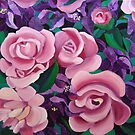 Bougainvillea with Roses by marlene veronique holdsworth