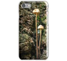 Mushrooms Growing From a Tree Trunk iPhone Case/Skin