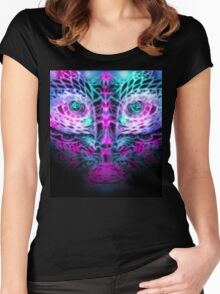 Fractal Face Women's Fitted Scoop T-Shirt