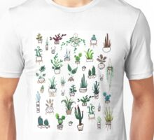 Succulent Plants Watercolor Unisex T-Shirt