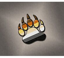 Gay Bear Pride Paw  Photographic Print