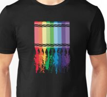 Spattered Crayons  Unisex T-Shirt