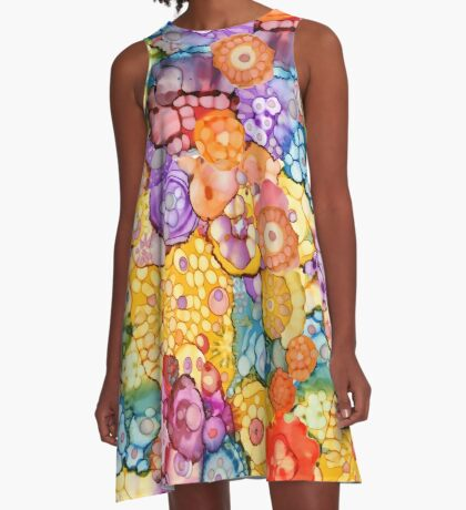The Funky Flowers • All of Tomorrows Flowers A-Line Dress
