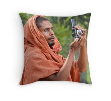Point, Pray and Shoot. Throw Pillow