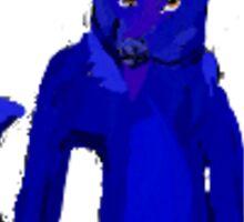 blue fur Sticker
