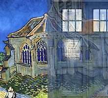 Dr., Van Gogh and the Church at Auvers by Amantine