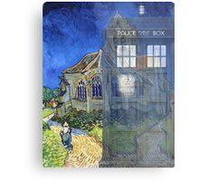 Dr., Van Gogh and the Church at Auvers Metal Print