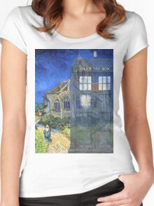 Dr., Van Gogh and the Church at Auvers Women's Fitted Scoop T-Shirt
