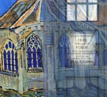 Dr., Van Gogh and the Church at Auvers Sticker