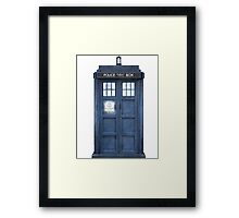 Tardis Blue - The Police Box Framed Print