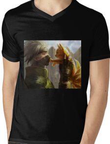 Kakashi et Bébé Kyubi Mens V-Neck T-Shirt