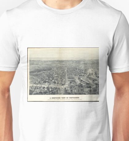 Vintage Pictorial Map of Providence RI (1895) Unisex T-Shirt