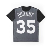 Kevin Durant - Golden State Warriors Jersey Graphic T-Shirt