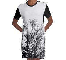 Dark trees Graphic T-Shirt Dress
