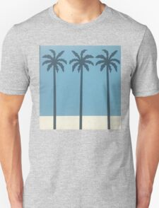 Palm Trees blue Unisex T-Shirt