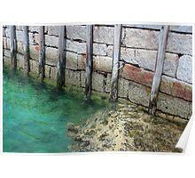 Seal Harbor Dock Pilings 2 Poster
