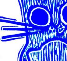 Feline Blue  Sticker