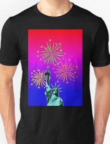 Statue Of Liberty Fireworks Unisex T-Shirt