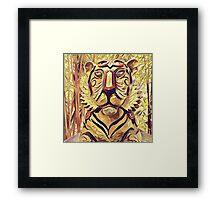 Tiger Statue K1 Framed Print