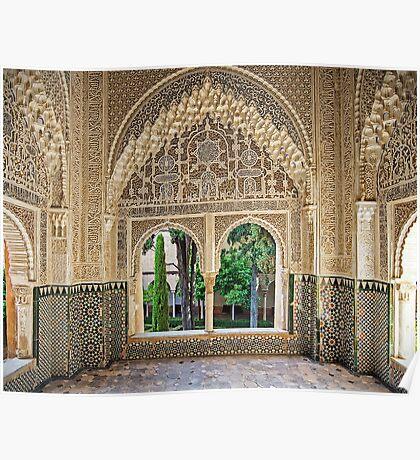 Daraxa's Mirador, Nasrid Palaces, The Alhambra, Granada, Spain Poster
