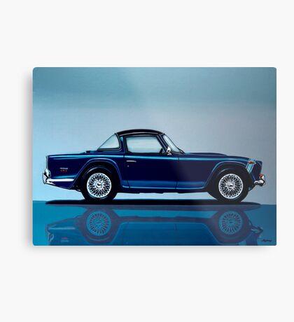 Triumph TR5 Painting Metal Print