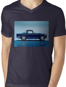 Triumph TR5 Painting Mens V-Neck T-Shirt