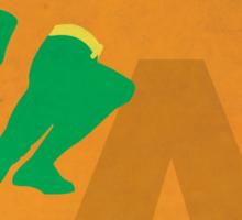 Aquaman - Superhero Minimalist Alphabet Print Art Sticker