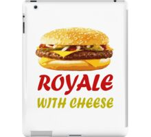 Royale With Cheese Shirt iPad Case/Skin