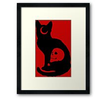 Le Chat Noir Framed Print
