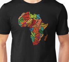 Africa Word Pattern Africa Map T-Shirt Unisex T-Shirt
