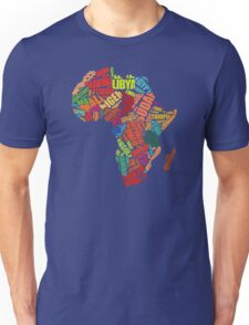 Africa Word Pattern Africa Map T-Shirt Unisex T-Shirt