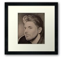 Chris Young in Pencil Framed Print
