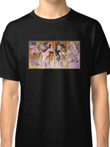 'The Four Seasons' by Alphonse Mucha (Reproduction) Classic T-Shirt