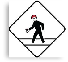 Pokemon Go Crossing Sign Canvas Print