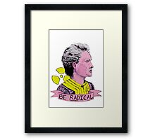 Marie Curie - Be Radical Framed Print