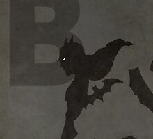 Batman - Superhero Minimalist Alphabet Print Art by justicedefender