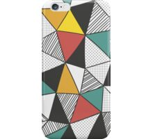 Triangles background in hand drawn style iPhone Case/Skin