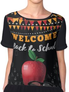 Welcome Back to school bunting and blackboard design. Chiffon Top