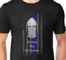 Protect the Protectors Blue Line Knight Helm Unisex T-Shirt