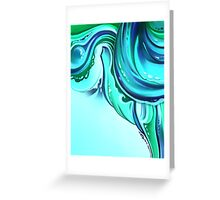 Cool Blue Nautical Abstract Greeting Card