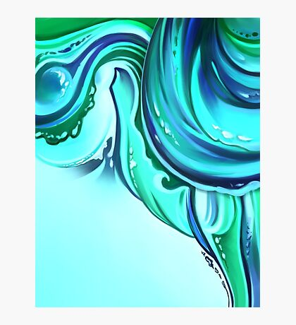 Cool Blue Nautical Abstract Photographic Print